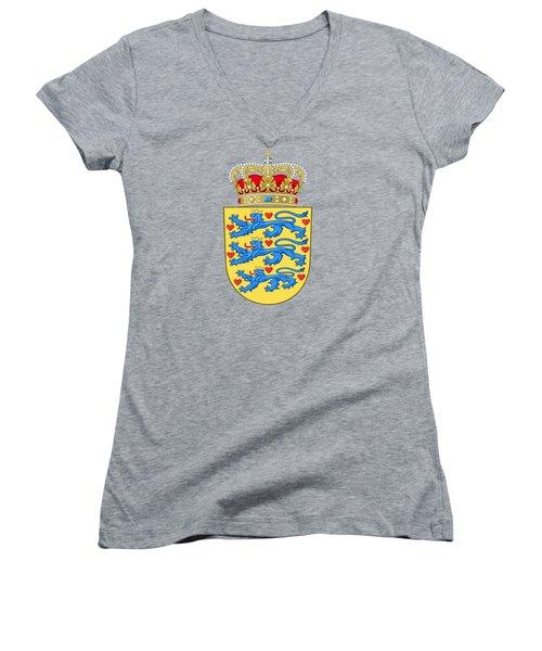 Denmark Coat Of Arms Women's V-Neck T-Shirt (Junior Cut)