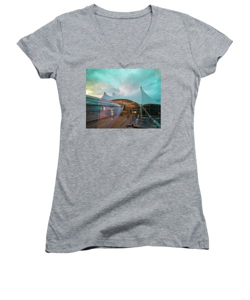 Denver International Airport Women's V-Neck (Athletic Fit)