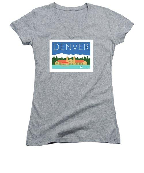 Denver City Park/blue Women's V-Neck
