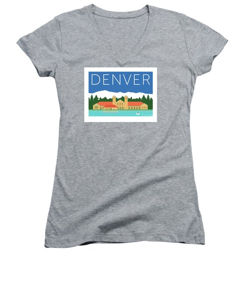 Denver City Park/blue Women's V-Neck (Athletic Fit)