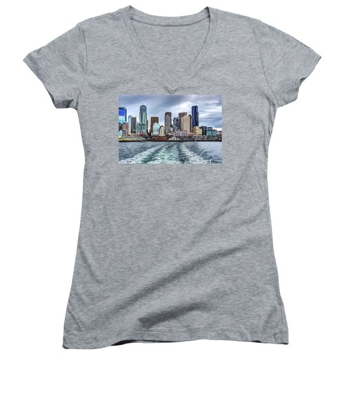 Departing Pier 54 Women's V-Neck