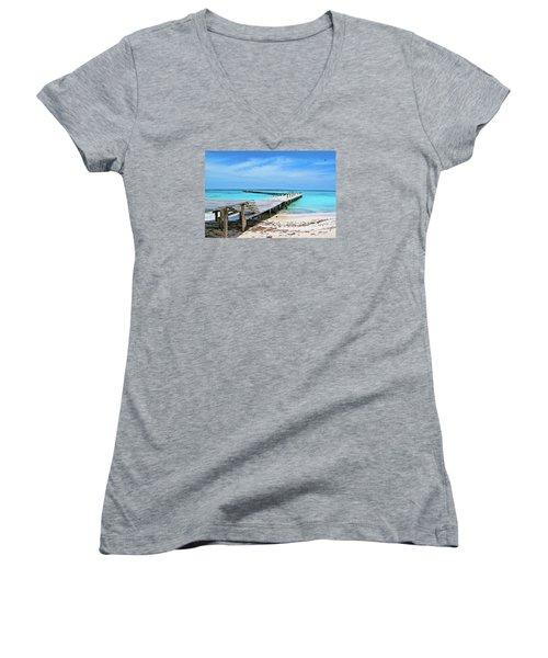 Departure Point Women's V-Neck T-Shirt