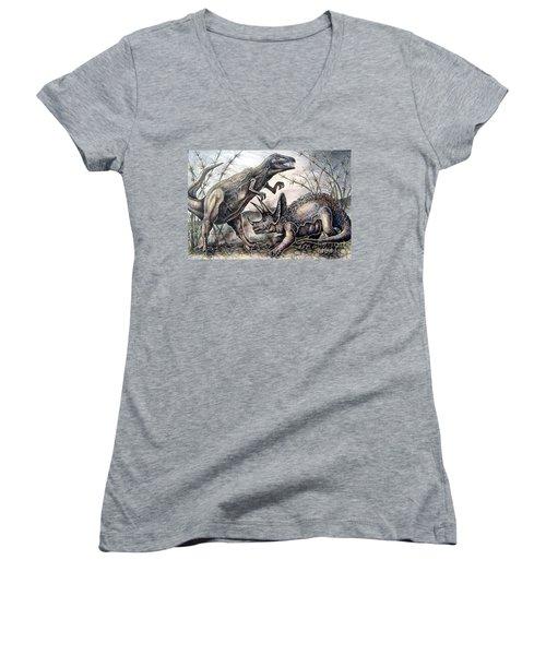 Derek Women's V-Neck T-Shirt