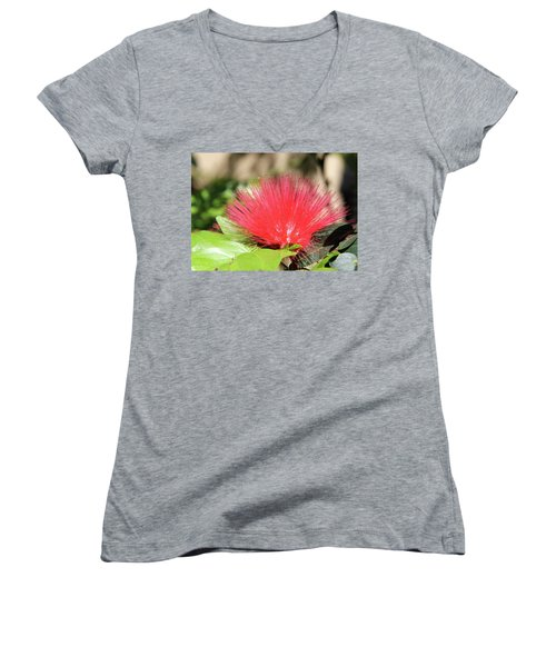 Women's V-Neck T-Shirt (Junior Cut) featuring the photograph Desert Blossom by Kathy Bassett