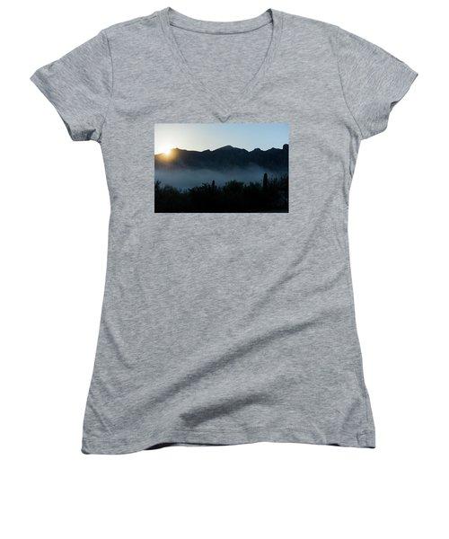 Desert Inversion Sunrise Women's V-Neck