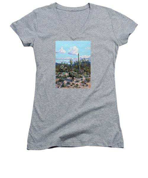 Desert Landscape Women's V-Neck T-Shirt