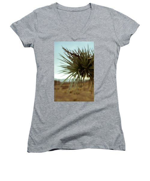 Desert Leaves Women's V-Neck (Athletic Fit)