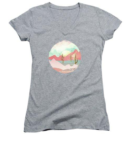 Desert Mountains Women's V-Neck T-Shirt