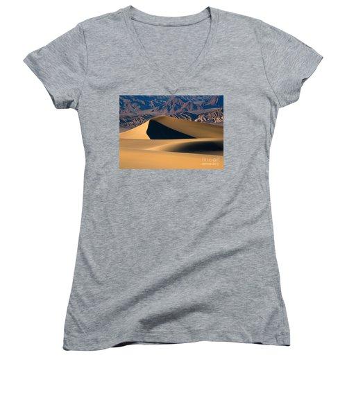 Desert Sand Women's V-Neck T-Shirt (Junior Cut) by Mike Dawson