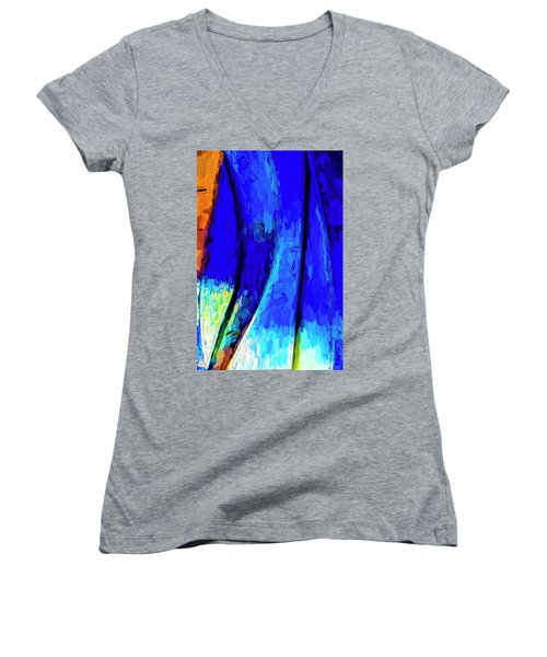 Desert Sky 2 Women's V-Neck T-Shirt (Junior Cut) by Paul Wear