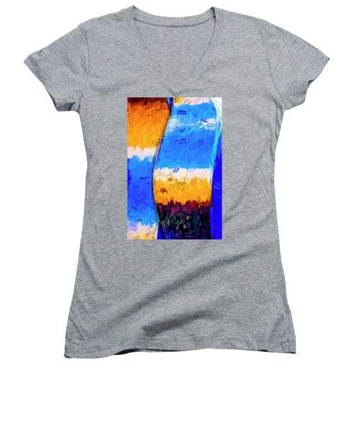 Desert Sky 3 Women's V-Neck T-Shirt (Junior Cut) by Paul Wear