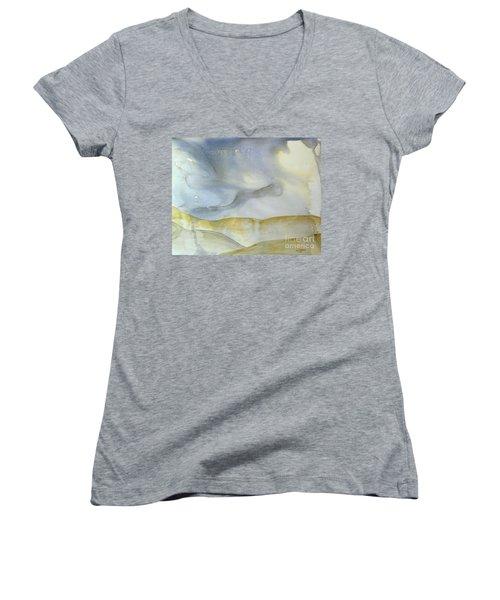 Desert Storm Women's V-Neck T-Shirt (Junior Cut) by Lynda Cookson