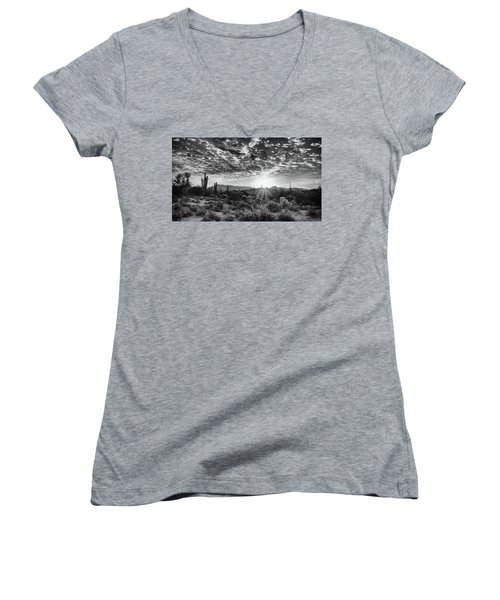 Desert Sunrise Women's V-Neck T-Shirt