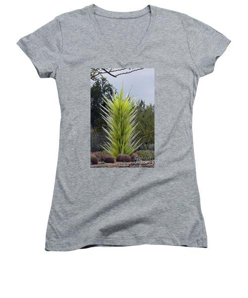 Desert Tower 2008 #2 Women's V-Neck T-Shirt (Junior Cut) by Anne Rodkin