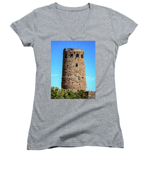 Desert View Watchtower At The Grand Canyon Women's V-Neck