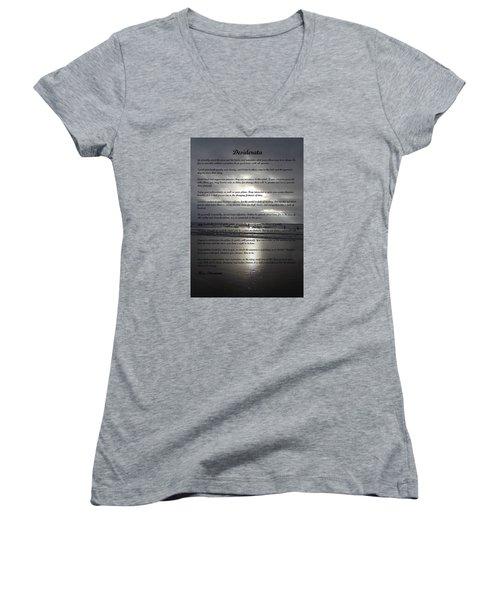 Desiderata 12 Women's V-Neck T-Shirt