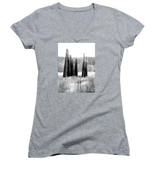 Designs Of The Future Women's V-Neck T-Shirt (Junior Cut) by Marcia Lee Jones