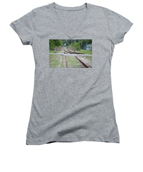 Desolate Rails Women's V-Neck T-Shirt