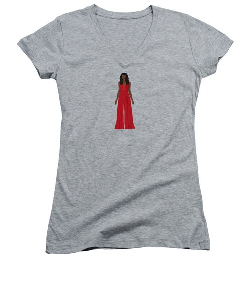 Women's V-Neck T-Shirt featuring the digital art Destiny by Nancy Levan