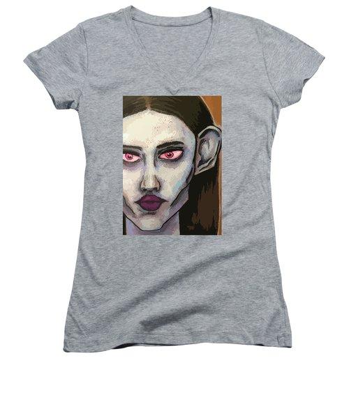 Detailed Beauty Women's V-Neck T-Shirt