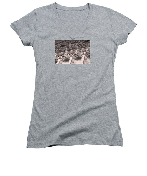 Details Of The National Cathedral Women's V-Neck T-Shirt (Junior Cut) by John S