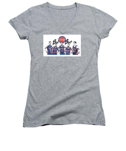 Detroit Bad Boys Pistons Women's V-Neck T-Shirt