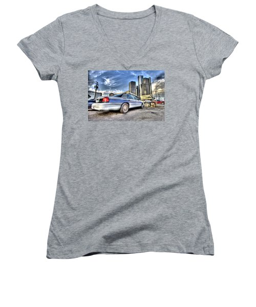 Detroit Police Women's V-Neck (Athletic Fit)