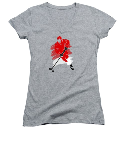 Detroit Red Wings Player Shirt Women's V-Neck T-Shirt