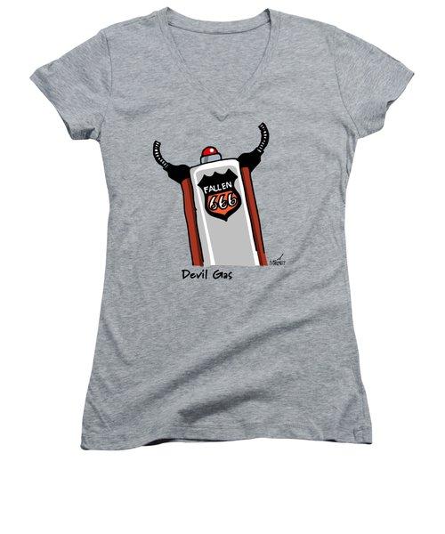 Devil Gas Women's V-Neck T-Shirt