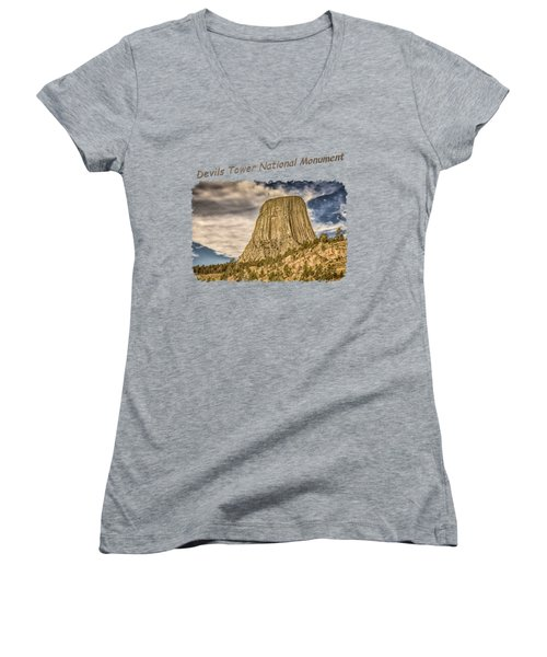 Devils Tower Inspiration 2 Women's V-Neck (Athletic Fit)