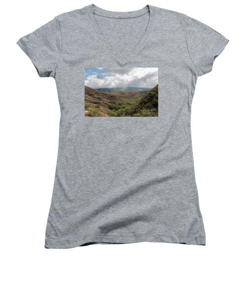 Diamond Head View Women's V-Neck T-Shirt