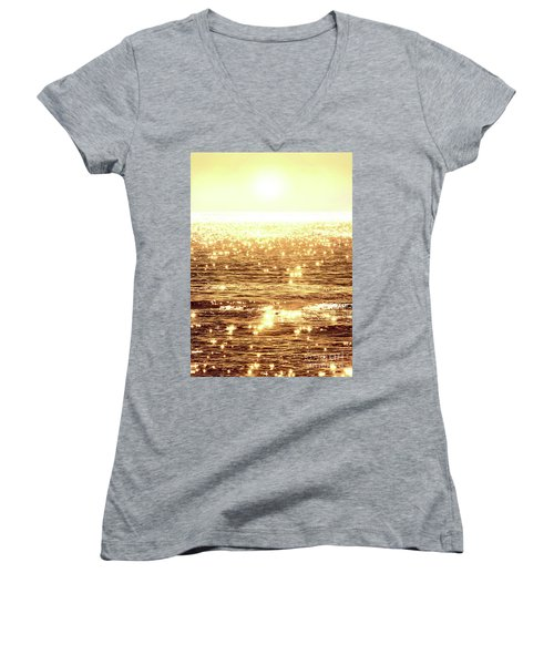 Diamonds Women's V-Neck T-Shirt (Junior Cut) by Michael Rock