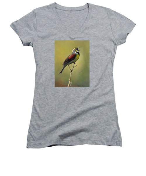 Dickcissel Summer Song Women's V-Neck (Athletic Fit)