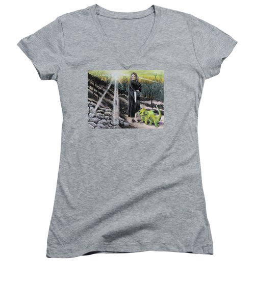 Did You Do That? Women's V-Neck (Athletic Fit)