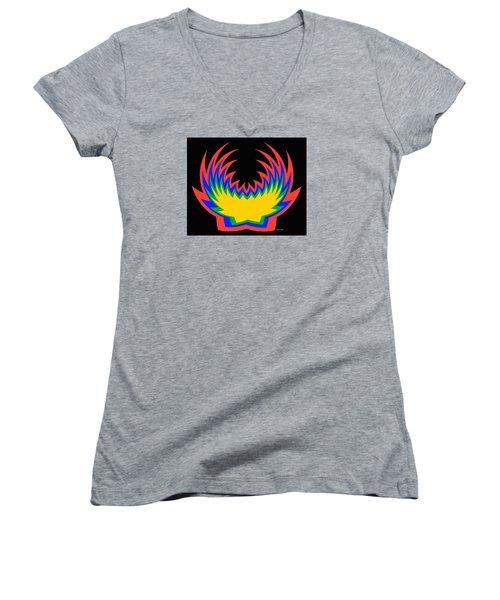 Digital Art 14 Women's V-Neck T-Shirt (Junior Cut) by Suhas Tavkar