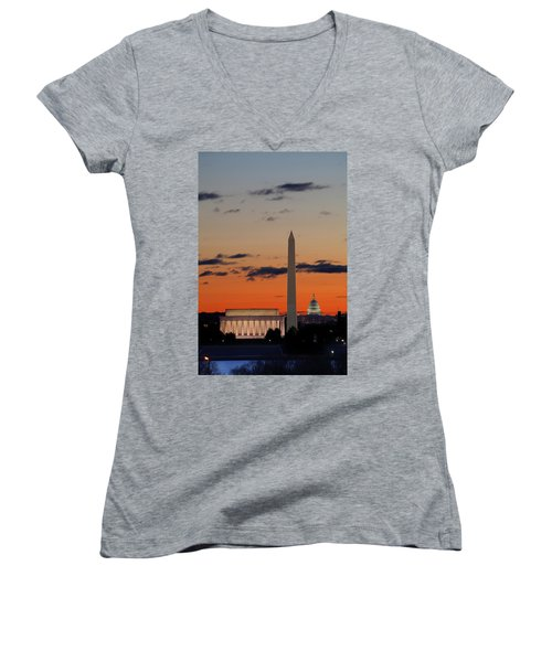Digital Liquid -  Monuments At Sunrise Women's V-Neck