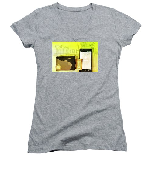Digitalization Women's V-Neck T-Shirt