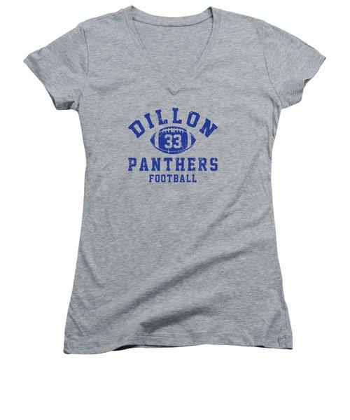 Dillon Panthers Football 2 Women's V-Neck T-Shirt