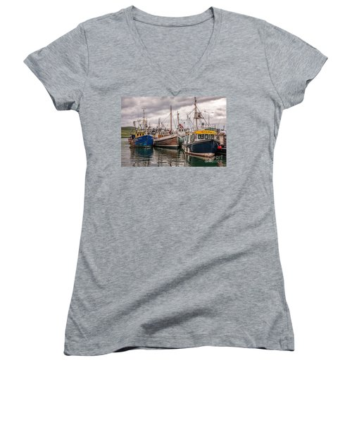 Dingle Harbour Women's V-Neck T-Shirt