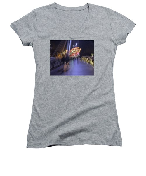 Women's V-Neck T-Shirt featuring the photograph Disassembly by Alex Lapidus