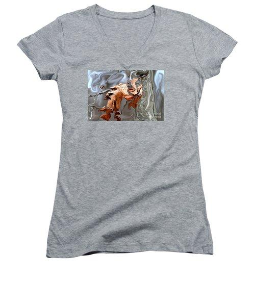 Disintegration  Women's V-Neck T-Shirt