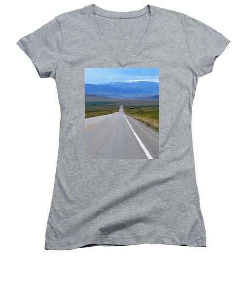 Distance Women's V-Neck