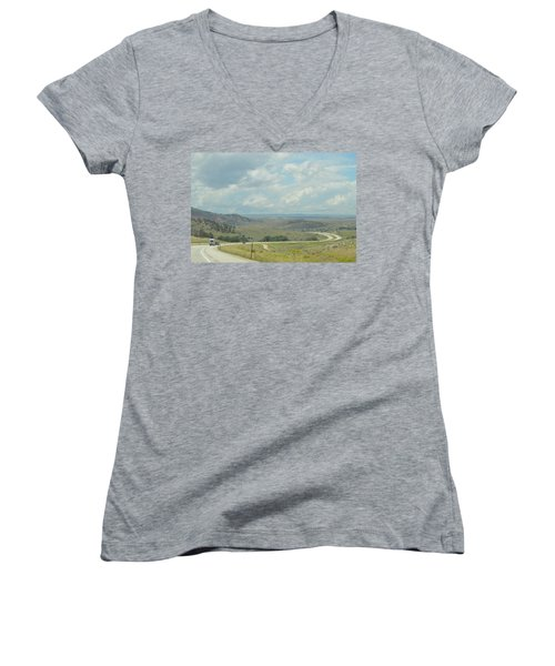 Distant Roads Women's V-Neck