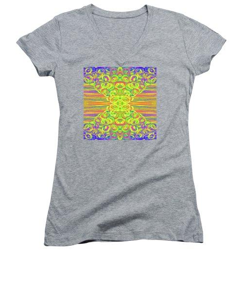 Ditto Women's V-Neck T-Shirt (Junior Cut) by Rachel Hannah