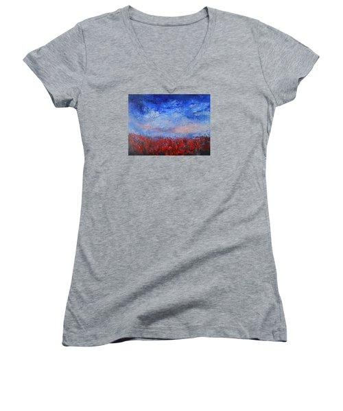 Divine Red Women's V-Neck T-Shirt