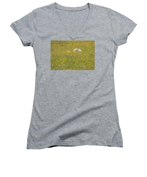 Do Ewe Like Buttercups? Women's V-Neck