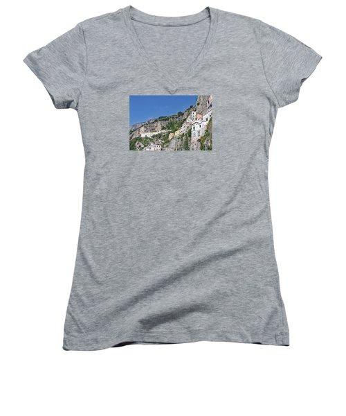 Do Not Sleepwalk Women's V-Neck T-Shirt (Junior Cut) by Allan Levin