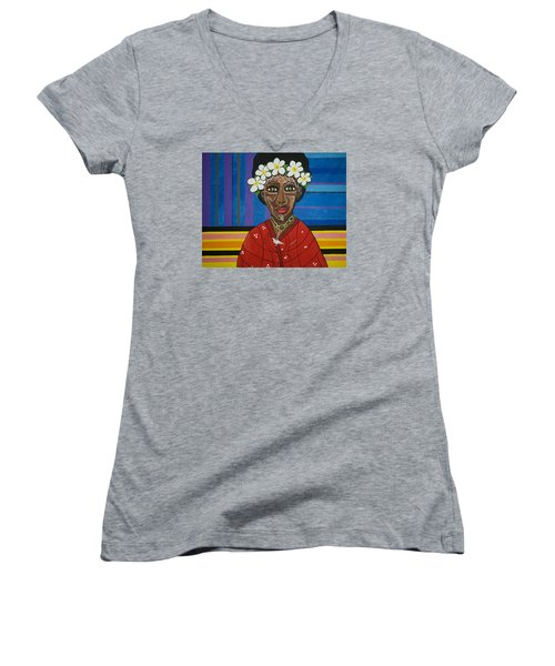 Do The Right Thing Women's V-Neck T-Shirt (Junior Cut) by Jose Rojas