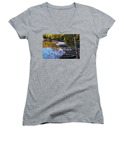 Docked Row Boats Women's V-Neck (Athletic Fit)