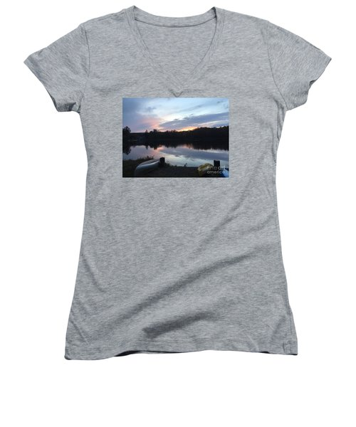 Dockside Pastels Women's V-Neck T-Shirt (Junior Cut) by Jason Nicholas